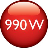 990 W ısıtma gücü