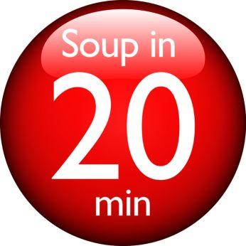 Crea le tue zuppe preferite in 20 minuti