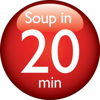 Create your favorite soup within 20 minutes