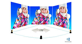 IPS LED wide view technology for image and colour accuracy