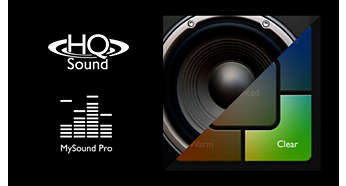 Crisp voice quality with HQ-Sound and MySound Pro