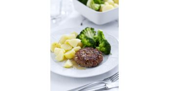 此配件可讓您烹調較為扁平的食物