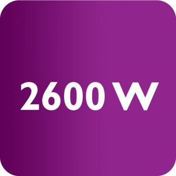 Мощность 2600Вт обеспечивает быстрый нагрев утюга и высокую производительность