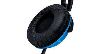 Soft ear cushions for comfortable, long listening sessions