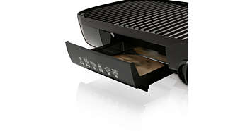 Healthy sloped grill plates drain away all excess fat