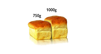 Coaceţi două dimensiuni de pâine până la 1 kg