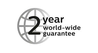 2-year guarantee, worldwide voltage, no oiling needed