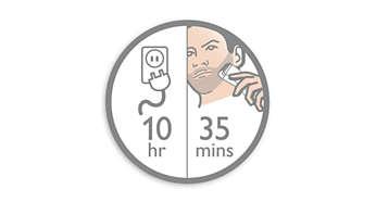 35 phút sử dụng không dây sau thời gian sạc 10 giờ.