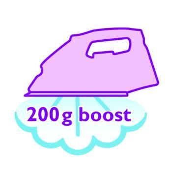 Паровой удар 200г для разглаживания самых жестких складок