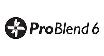 Нож ProBlend с 6-ю лезвиями в виде звезды для эффективного измельчения
