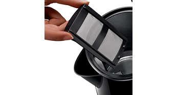 Temiz bir fincan su için kireç önleyici filtre