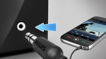 Audio-in for easy portable music playback