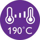 Temperatura de moldeado de 190 °C
