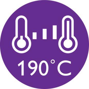 Suhu penataan 190°C untuk hasil yang tahan lama