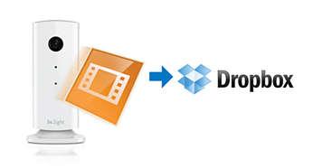 Записи загружаются на персональную страницу Dropbox