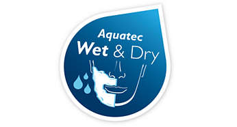 Aquatec Wet&Dry - Refreshing wet shave or an easy dry shave