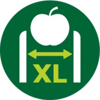 XL padeves caur. – nav nepieciešam iepriekšēja sagriešana (75 mm)