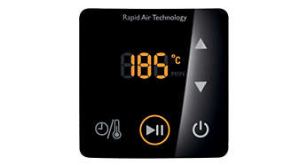 Digital screen for easy control of time and temperature