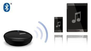 """Veikia su bet kuriuo """"Bluetooth"""" turinčiu išmaniuoju telefonu arba planšetiniu kompiuteriu"""