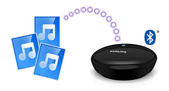 Stream your local music library via Bluetooth technology