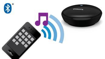 """Duomenų srautu siųskite muzikos programas iš išmaniojo telefono arba planšetinio kompiuterio į """"Hi-Fi"""""""