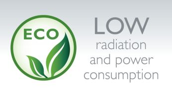 Low radiation and power consumption