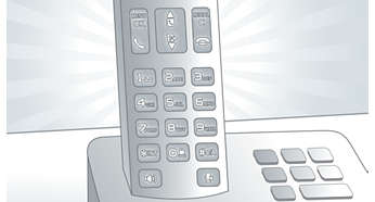 Keypad backlight for fast access even in dark rooms
