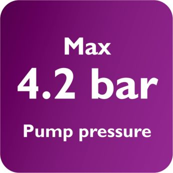 Для быстрого глажения максимальное давление насоса составляет 4,2бар