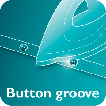 Button groove speeds up ironing along buttons and seams