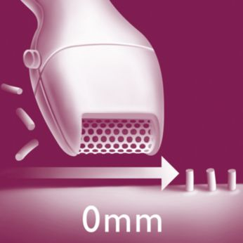 Mini shaver head. Use after shortening hairs with trimmer.