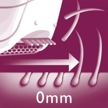 Бритвенная головка для гладкого бритья чувствительных участков тела
