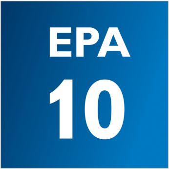The EPA filter catches microscopic vermin causing allergy