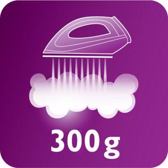 Постоянная подача пара до 120г/мин и паровой удар 300г