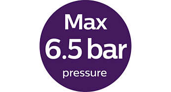 Up to 6.5 bar pressure