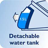 Çıkarılabilir su haznesi, 6,5 bar