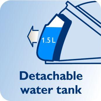 Съемный резервуар для воды 1,5 л, до 2 часов глажения