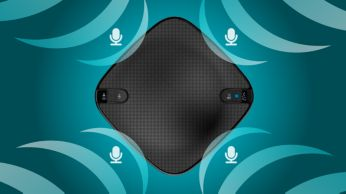 Four microphones for perfect voice pick up in 360 degree