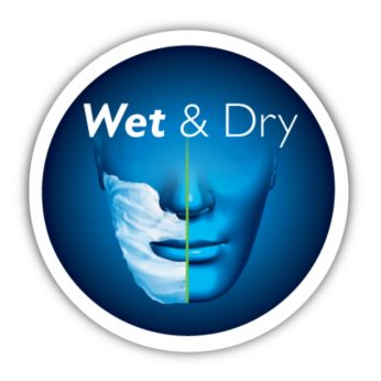 Comfortably shaves - wet or dry
