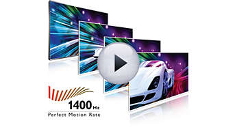 1400 Hz Perfect Motion Rate (PMR) voor superscherpe actiebeelden