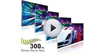 300 Hz Perfect Motion Rate (PMR) voor superscherpe actiebeelden