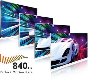 Perfect Motion Rate (PMR) de 840 Hz: máxima nitidez de movimientos
