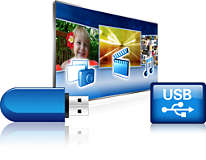 USB (photos, music, video)