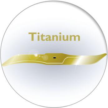 Нож с титановым покрытием в 6 раз прочнее стальных ножей, остается острым