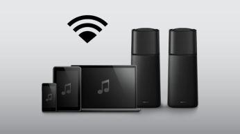 """Belaidis muzikos srautinis perdavimas per """"Bluetooth"""" iš jūsų muzikos įrenginių"""