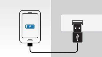 Încărcaţi al doilea dispozitiv mobil folosind portul USB