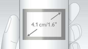 Arka ışıklı, kolay okunur 4,1 cm (1,6 inç) ekran