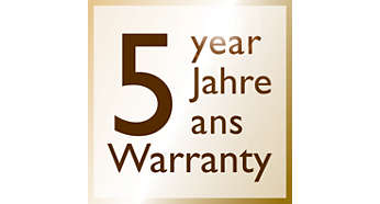 *2- year warranty plus 3 years, upon online registeration