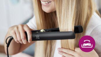 Подвижните плочи не позволяват накъсване на косата