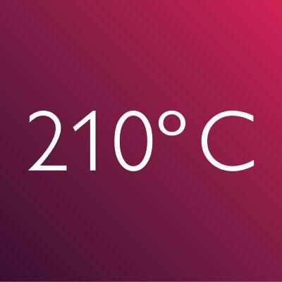 Профессиональная температура 210°C
