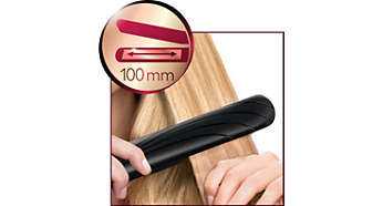 Long plates for fast and easy straightening